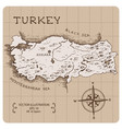 map turkey vector image