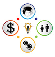 Modern business circle banner vector image vector image