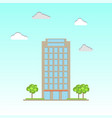 modern commercial office building vector image vector image