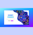 money neon landing page vector image vector image