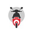 motorbike scooter transportation logo vector image