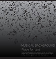 musical background with musical notes vector image vector image