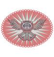 Ornamental Owl4 vector image vector image