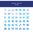 photo video filled outline icon set vol2 vector image vector image