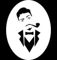 portrait 20s sarcastic man with tobacco pipe vector image vector image