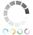 progress process indicator with 4 step progress vector image vector image