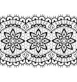 retro seamless lace design - black and whit vector image vector image