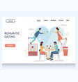 romantic dating website landing page design vector image vector image