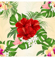 seamless texture bouquet with tropical flowers vector image vector image