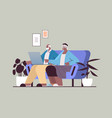 senior couple using laptop grandparents relaxing vector image vector image