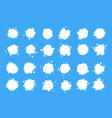 set milk drops isolated vector image