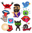 set of cool social media signs and other vector image vector image
