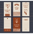 Set of labels for knitwear and wool vector image vector image