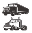 set of truck isolated on white background design vector image