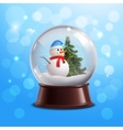 Snow globe with snowman vector image