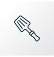 spatula icon line symbol premium quality isolated vector image vector image