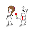 Square guy - relationship vector image vector image