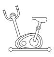 Stationary exercise bike icon outline style vector image vector image