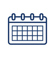 timetable icon on white background vector image vector image