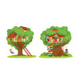 tree house for kids collection boys and girls vector image vector image