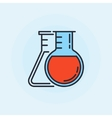 Two flasks flat icon vector image
