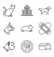 veterinary surgeon icons set outline style vector image vector image