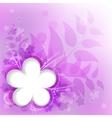 violet floral background vector image