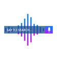 voice search recognition concept search bar vector image vector image