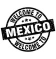 welcome to mexico black stamp vector image vector image