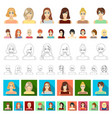 women s clothing cartoon icons in set collection vector image