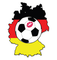 women soccer in Germany vector image