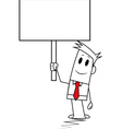 Square guy - Signboard vector image