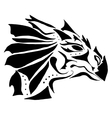 dragon tattoo on white background vector image