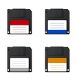 modern diskette on white background vector image