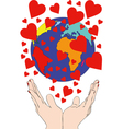 A whole world of love vector image vector image