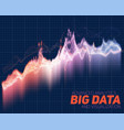 abstract big data visualization vector image vector image