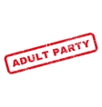 Adult Party Text Rubber Stamp vector image vector image