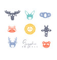 animals authentic graphic color vector image vector image