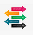 arrow infographic with five steps vector image vector image