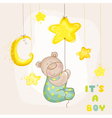 Baby Bear with Moon and Stars vector image vector image
