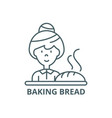 baking bread line icon baking bread vector image
