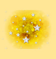 bright yellow shiny background with stars vector image vector image