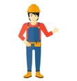Builder showing thumbs up vector image vector image