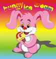 Bunny ice cream pink vector image vector image