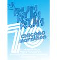 Chicago marathon run poster vector image vector image