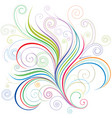 colorful curve vector image vector image