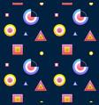 dark geometry memphis seamless pattern vector image vector image