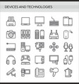 devices icons set in thin line style isolated on vector image