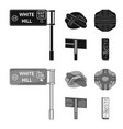 direction signs and other web icon in black vector image vector image