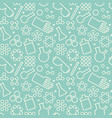 doodle chemistry pattern vector image vector image